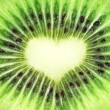 Kiwi fruit close-up. Heart shape - Lizenzfreies Foto
