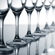 Empty champagne glasses — Stockfoto