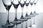 Empty champagne glasses — Stock Photo