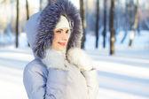 Girl winter portrait — Stock Photo
