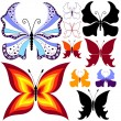 Collection abstract butterflies — Stock vektor