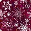 Seamless purple christmas pattern — Imagen vectorial