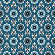 Blue vintage seamless pattern — Stock Vector