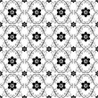 Stock Vector: White-black vintage seamless pattern