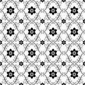 Vzor bezešvé vintage bílá černá — Stock vektor