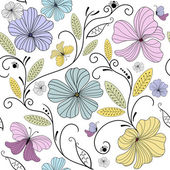 Pastel seamless floral pattern — Stock Vector