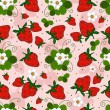 Royalty-Free Stock Vector Image: Pink repeating pattern with a strawberry
