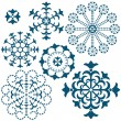 Set blue vintage snowflakes — Stock Vector #4049510