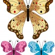 Set decorative isolated butterflies — Stock Vector