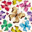Seamless pattern with butterflies — Stock Vector #4069809