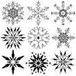 Set of vintage snowflakes — Stock Vector #4084911
