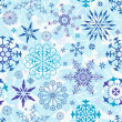 Seamless blue christmas wallpaper — Stock Vector #4127021