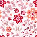 White seamless valentine pattern — Stock Vector