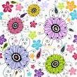 Seamless white floral pattern — Stock Vector #4240814