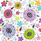 Seamless white floral pattern — Stock Vector