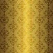 Golden floral seamless pattern — Stock Vector