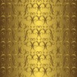 Golden seamless pattern — Stock Vector