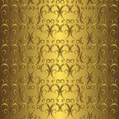 Golden seamless pattern — Stock Vector