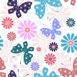 Pastel seamless floral pattern — Stock Vector #4493450