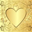 Valentine elegant golden background — Vector de stock
