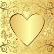 Valentine elegant golden background — Stock vektor
