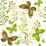 White effortless floral wallpaper — Stock Vector