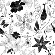 Royalty-Free Stock ベクターイメージ: Seamless white floral pattern