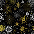 Seamless black christmas wallpaper — Stock Vector