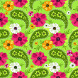 Seamless green floral pattern — Stock Vector #4716476