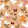 Stock Vector: Repeating pattern with butterflies