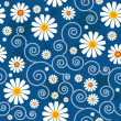 Dark blue floral pattern — Stock Vector #4924418