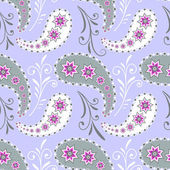 Seamless grey floral pattern — Stock Vector