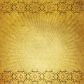 Papier jaune avec ornement — Photo