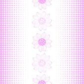 Sich wiederholende muster in pink-weiß — Stockvektor