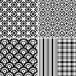 Collection seamless patterns — Stock Vector #5211076