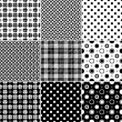 Big collection seamless patterns — Stock Vector