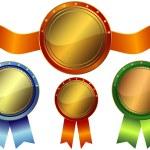 Set metallic awards — Stock Vector