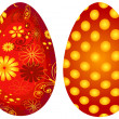 Red Easter`s eggs — Stock Vector