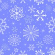 Christmas blue seamless pattern — Stockvectorbeeld