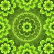 Stock Vector: Repeating green floral pattern