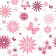 White seamless floral pattern — Stock Vector #5308210