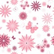 Royalty-Free Stock Vector Image: White seamless floral pattern