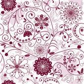 Blanc-violet transparent motif floral — Vecteur
