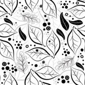 Seamless autumn floral pattern — Stock Vector