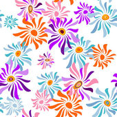 Floral white seamless pattern — Stock Vector