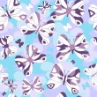 Repeating pattern with butterflies — Stock Vector #5357682