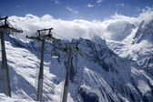 Ropeway at ski resort — Photo