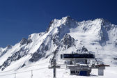 Station of ropeway. Ski resort. — 图库照片