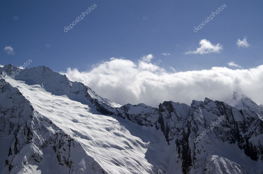 Glacier. Caucasus Mountain, Dombay. — Stock Photo #4380845