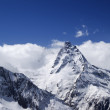 Stock Photo: High mountains in cloud